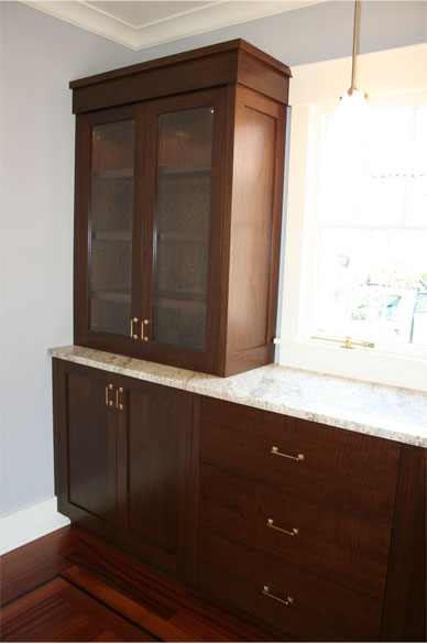 Walnut Dining Hutch