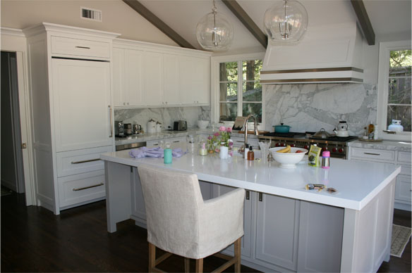 Ross Painted Kitchen - Luedecke Woodworks