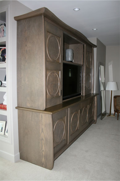 Custom built bedroom ash armoire in the North Bay.
