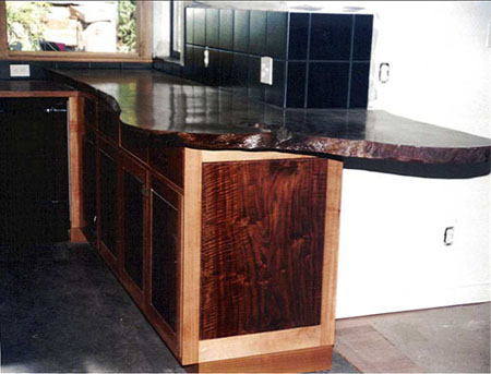 Walnut Live Edge Countertop