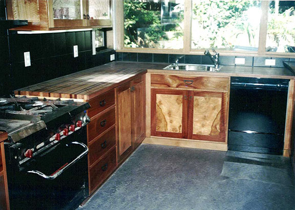 Madrone, Eucalyptus, and Walnut Kitchen
