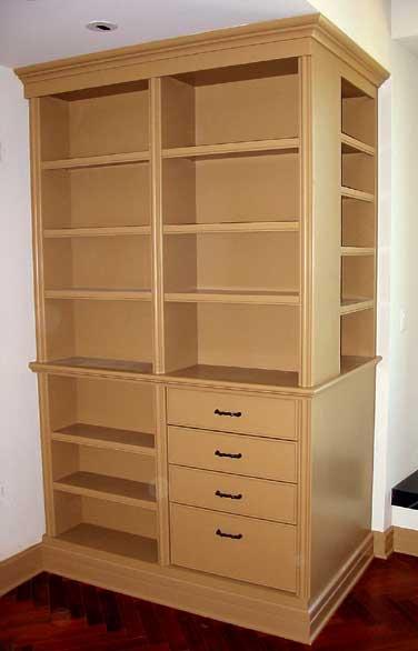Custom Corner Cabinet with Shaped Moldings