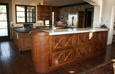 Elm and Walnut Mediterranean Kitchen