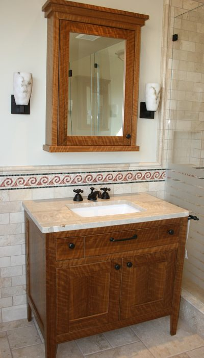 Olive Craftsman Bathroom Cabinetry