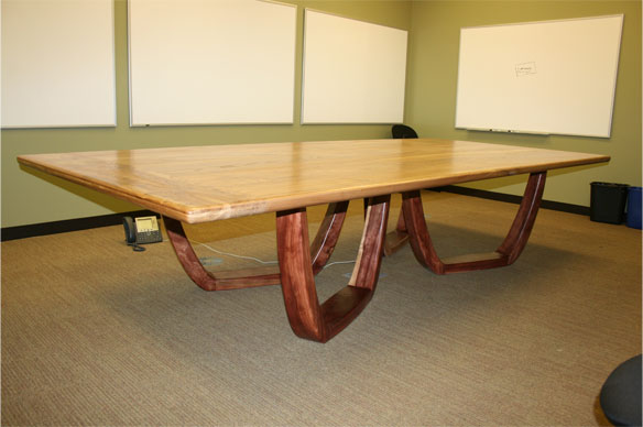 Custom Elm and Redwood Conference Table