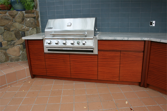 Custom cabinetry for outdoor kitchen in Santa Rosa.