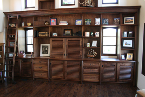 Walnut Custom Built-in Cabinetry