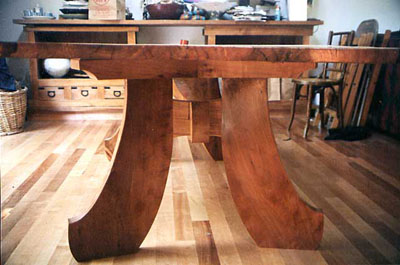 Live Edge Eucalyptus and Madrone Table