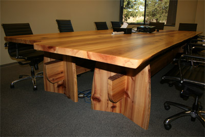 Live Edge Redwood Conference Tables