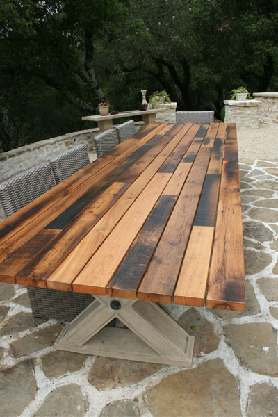 Reclaimed Oak Outdoor Table