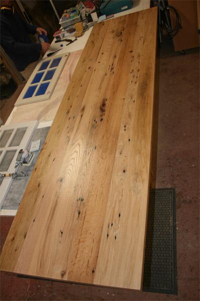 Salvaged Oak Barnwood Table