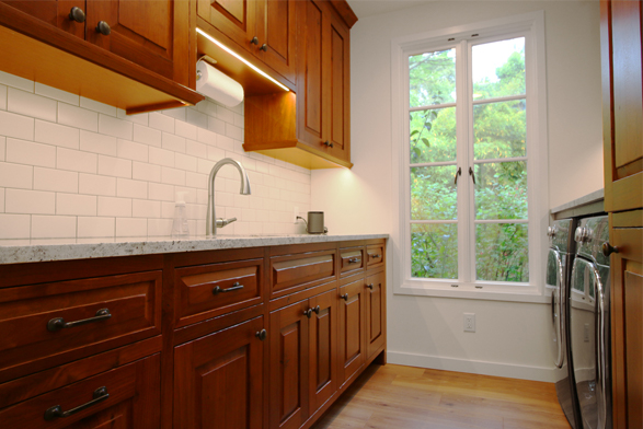 walnut utility cabinets
