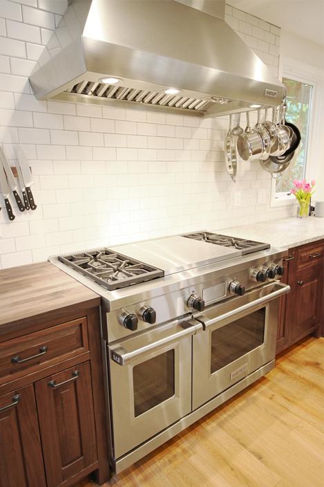 walnut kitchen stove
