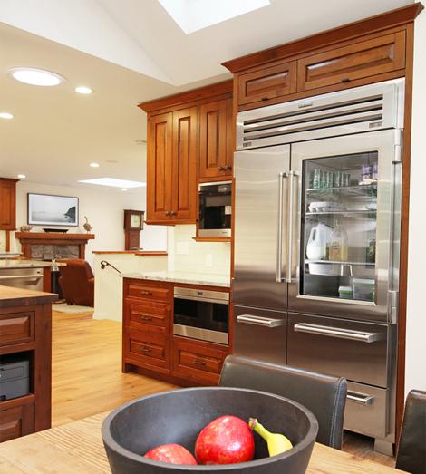 walnut kitchen center view